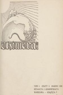 Chimera. T.1, 1901, z.3