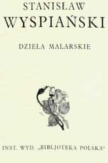 Stanisław Wyspiański : dzieła malarskie