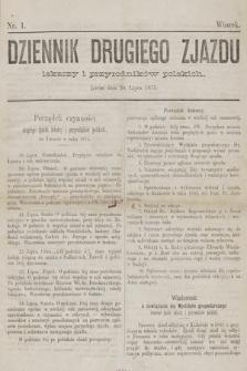 Dziennik Drugiego Zjazdu Lekarzy i Przyrodników Polskich. 1875, nr 1