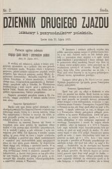 Dziennik Drugiego Zjazdu Lekarzy i Przyrodników Polskich. 1875, nr 2
