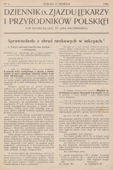 Dziennik IX Zjazdu Lekarzy i Przyrodników Polskich. 1900, nr 5