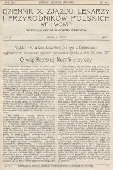 Dziennik X. Zjazdu Lekarzy i Przyrodników Polskich. 1907, nr 3