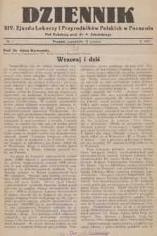 Dziennik XIV. Zjazdu Lekarzy i Przyrodników Polskich. 1933, nr 1