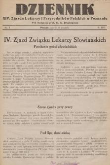 Dziennik XIV. Zjazdu Lekarzy i Przyrodników Polskich. 1933, nr 2