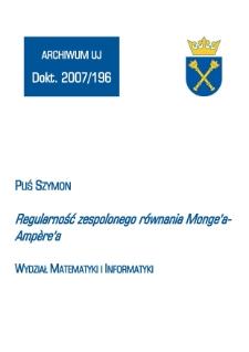 Regularność zespolonego równania Monge'a-Ampère'a