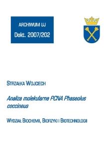 Analiza molekularna PCNA Phaseolus coccineus