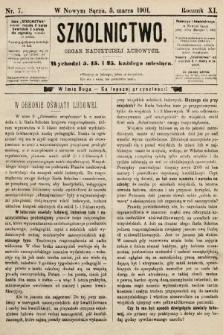 Szkolnictwo : organ nauczycieli ludowych. 1901, nr7