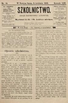 Szkolnictwo : organ nauczycieli ludowych. 1903, nr10