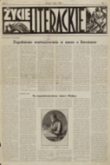 Życie Literackie. R. 1, 1928, nr 1