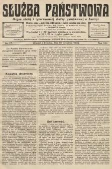 Służba Państwowa : organ stałej i tymczasowej służby państwowej w Austryi : oficjalny organ różnych stowarzyszeń służby państwowej. 1908, nr17