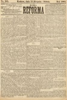 Nowa Reforma. 1885, nr185