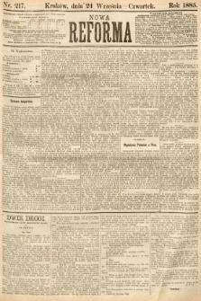 Nowa Reforma. 1885, nr214