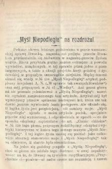 Wiedza : tygodnik społeczno-polityczny, popularno-naukowy i literacki. R. 4, 1910, nr4