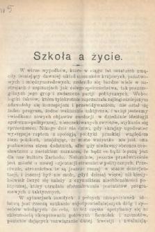 Wiedza : tygodnik społeczno-polityczny, popularno-naukowy i literacki. R. 4, 1910, nr5