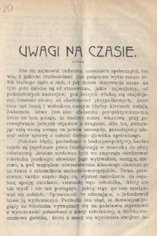 Wiedza : tygodnik społeczno-polityczny, popularno-naukowy i literacki. R. 4, 1910, nr20