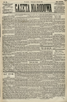 Gazeta Narodowa. 1889, nr13