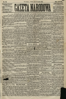 Gazeta Narodowa. 1889, nr18