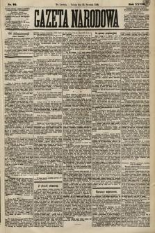 Gazeta Narodowa. 1889, nr22