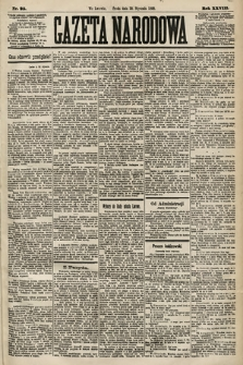 Gazeta Narodowa. 1889, nr25