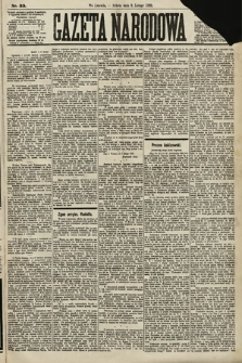 Gazeta Narodowa. 1889, nr33
