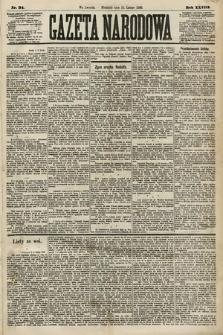 Gazeta Narodowa. 1889, nr34