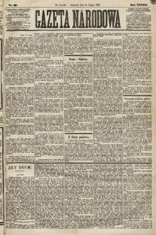 Gazeta Narodowa. 1889, nr37
