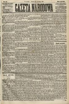Gazeta Narodowa. 1889, nr41