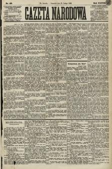 Gazeta Narodowa. 1889, nr43