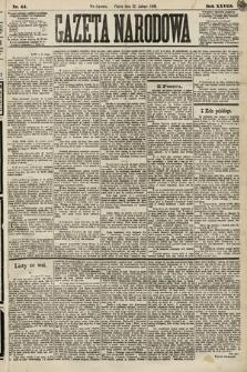 Gazeta Narodowa. 1889, nr44