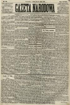 Gazeta Narodowa. 1889, nr45