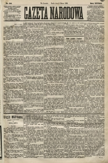 Gazeta Narodowa. 1889, nr54