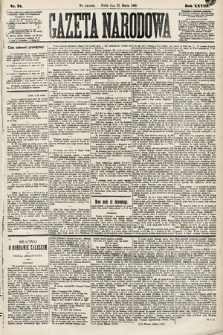 Gazeta Narodowa. 1889, nr71