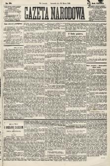 Gazeta Narodowa. 1889, nr72