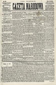Gazeta Narodowa. 1889, nr74