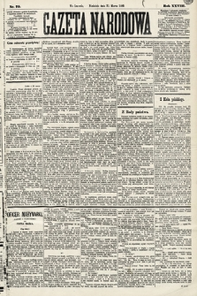Gazeta Narodowa. 1889, nr75