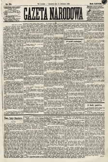 Gazeta Narodowa. 1889, nr84