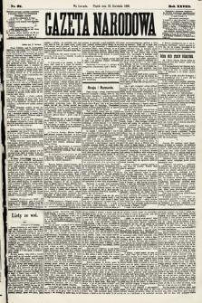 Gazeta Narodowa. 1889, nr91