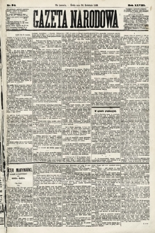 Gazeta Narodowa. 1889, nr94
