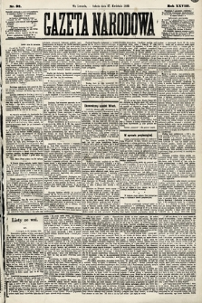 Gazeta Narodowa. 1889, nr97