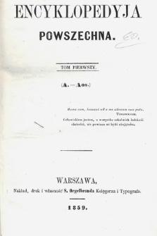 Encyklopedyja Powszechna. T.1