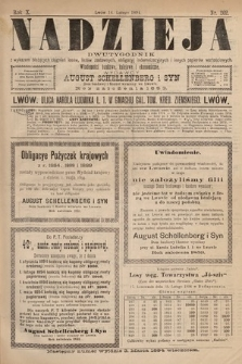Nadzieja : dwutygodnik zwykazem bieżących ciągnień losów, listów zastawnych, obligacyj indemnizacyjnych innych papierów wartościowych : wiadomości bankowe, kolejowe, ekonomiczne. 1894, nr202