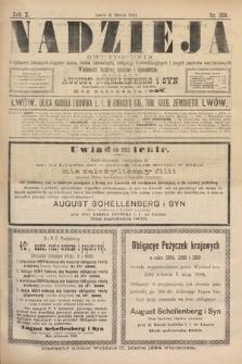 Nadzieja : dwutygodnik zwykazem bieżących ciągnień losów, listów zastawnych, obligacyj indemnizacyjnych innych papierów wartościowych : wiadomości bankowe, kolejowe, ekonomiczne. 1894, nr203