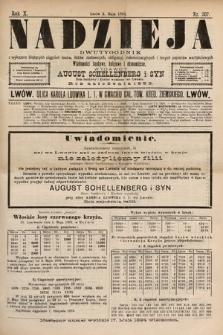 Nadzieja : dwutygodnik zwykazem bieżących ciągnień losów, listów zastawnych, obligacyj indemnizacyjnych innych papierów wartościowych : wiadomości bankowe, kolejowe, ekonomiczne. 1894, nr207