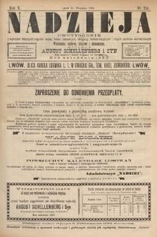 Nadzieja : dwutygodnik zwykazem bieżących ciągnień losów, listów zastawnych, obligacyj indemnizacyjnych innych papierów wartościowych : wiadomości bankowe, kolejowe, ekonomiczne. 1894, nr216