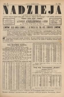 Nadzieja : dwutygodnik zwykazem bieżących ciągnień losów, listów zastawnych, obligacyj indemnizacyjnych innych papierów wartościowych : wiadomości bankowe, kolejowe, ekonomiczne. 1894, nr219