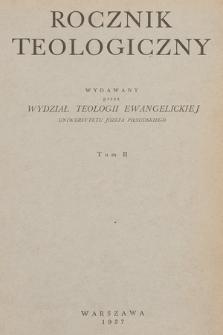 Rocznik Teologiczny. 1937, t. 2