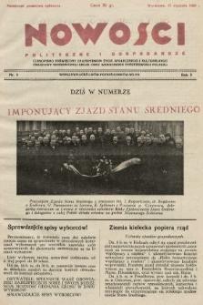 Nowości Polityczne i Gospodarcze : czasopismo poświęcone zagadnieniom życia społecznego i kulturalnego, odbudowy ekonomicznej kraju oraz wzmocnienia państwowości polskiej. 1928, nr3