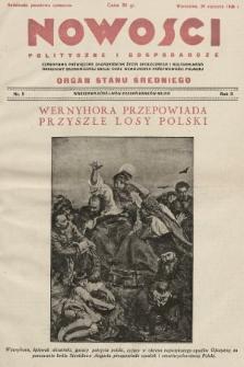 Nowości Polityczne i Gospodarcze : czasopismo poświęcone zagadnieniom życia społecznego i kulturalnego, odbudowy ekonomicznej kraju oraz wzmocnienia państwowości polskiej. 1928, nr5