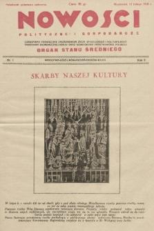 Nowości Polityczne i Gospodarcze : czasopismo poświęcone zagadnieniom życia społecznego i kulturalnego, odbudowy ekonomicznej kraju oraz wzmocnienia państwowości polskiej. 1928, nr7