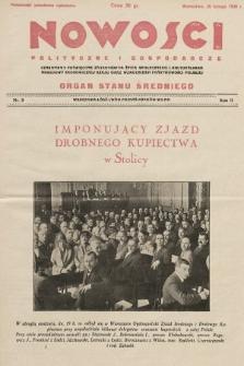 Nowości Polityczne i Gospodarcze : czasopismo poświęcone zagadnieniom życia społecznego i kulturalnego, odbudowy ekonomicznej kraju oraz wzmocnienia państwowości polskiej. 1928, nr9